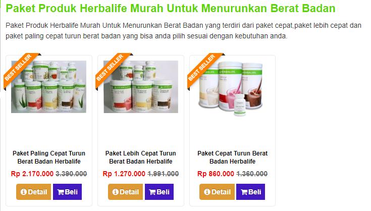 Produk Herbalife Yang Paling Cepat Menurunkan Berat Badan Brad